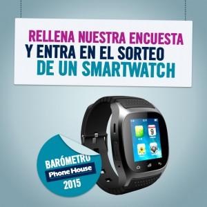 Entre todos los usuarios que respondan a la encuesta, se sorteará un smartwatch