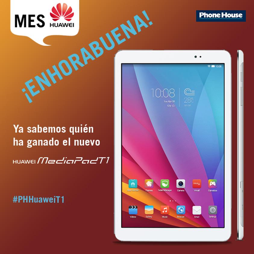 Creatividad Ganador sorteo Huawei MediaPad T1 facebook