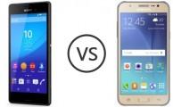 Comparamos: Samsung Galaxy J5 vs Sony Xperia M4 Aqua