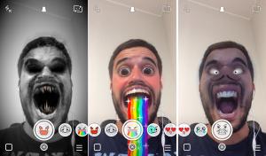 filtro para selfies en snapchat