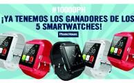 ¡Ya sabemos quiénes son los ganadores de los 5 smartwatches de #PH10000 !