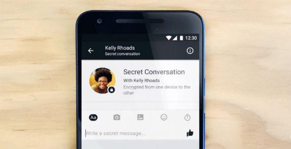 Facebook secret messaging