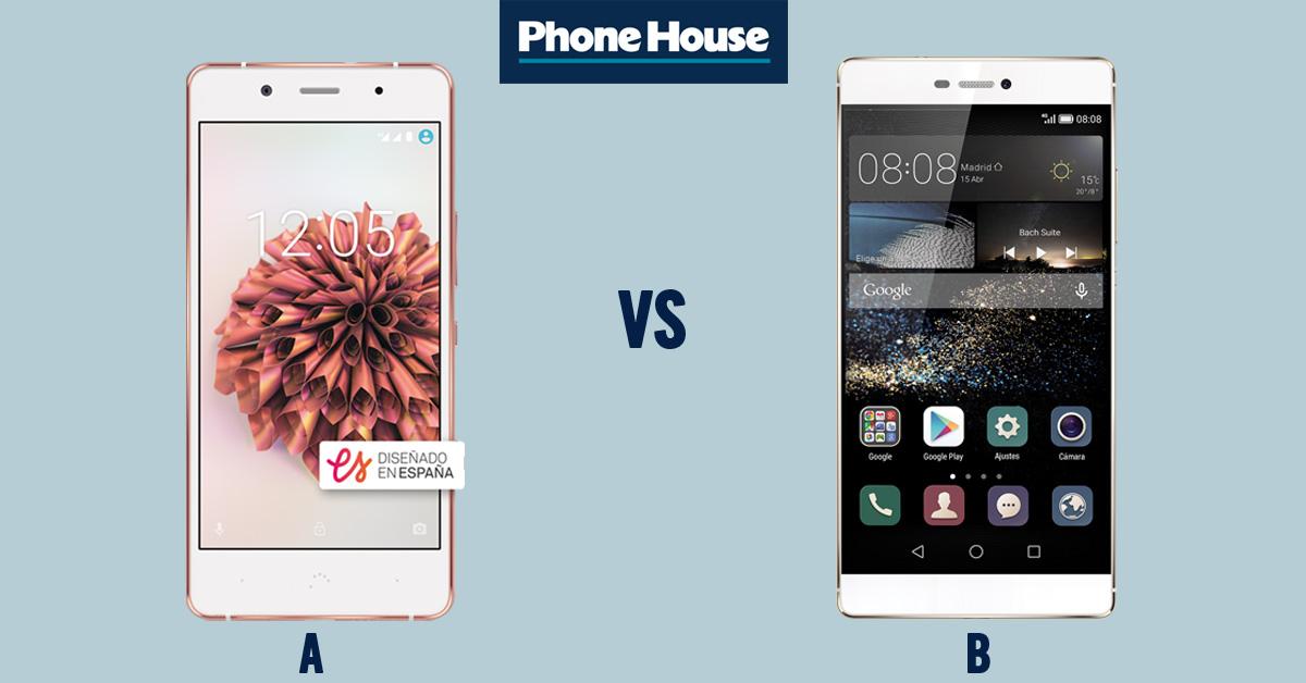 Comp BQ Aquaris X5 Plus V Huawei P8