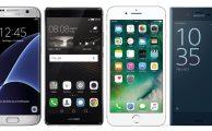 Comparamos Samsung Galaxy S7 Edge, Huawei P9 Plus, iPhone 7 Plus y Sony Xperia XZ