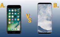 Comparativa Iphone 7+ y Galaxy S8+