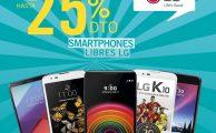 ¡Solo hasta el 26 de junio descuentos de hasta el 25% en smartphones libres LG!
