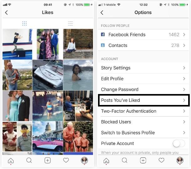 Cómo ver las fotos que te han gustado en Instagram