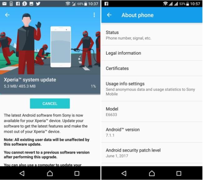 Por fin: Android 7.1.1 llega a varios terminales de la gama Sony Xperia