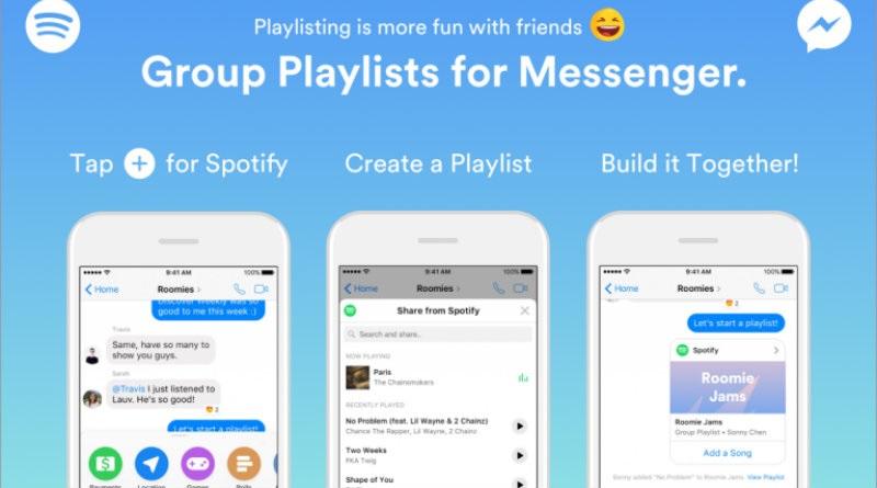 Así puedes crear y enviar tus playlists de Spotify a través de Facebook Messenger