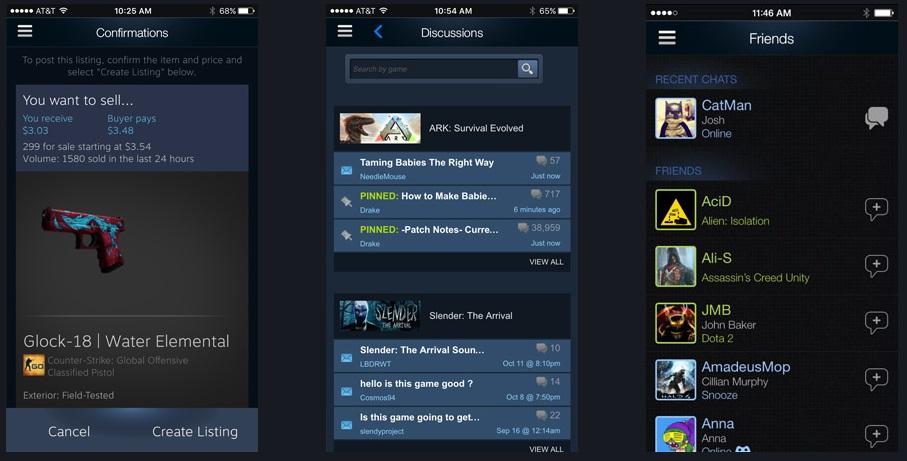 ¿Qué puedes hacer con la aplicación móvil de Steam?