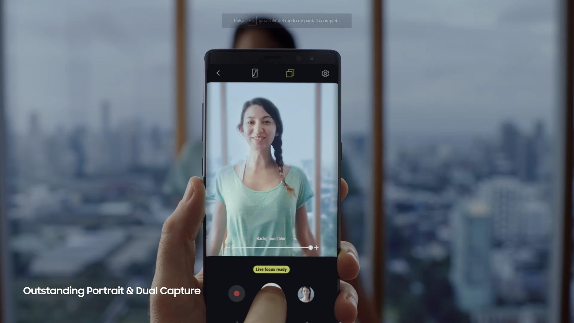 Samsung Galaxy Note8: revolucionando las cámaras de la familia Galaxy