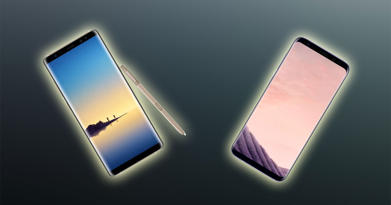 Comparativa: Samsung Galaxy Note8 vs. Samsung Galaxy S8+