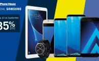 ¡Solo hasta el 20 de septiembre hasta 35% de descuento en smartphones, tablets y wearables Samsung!