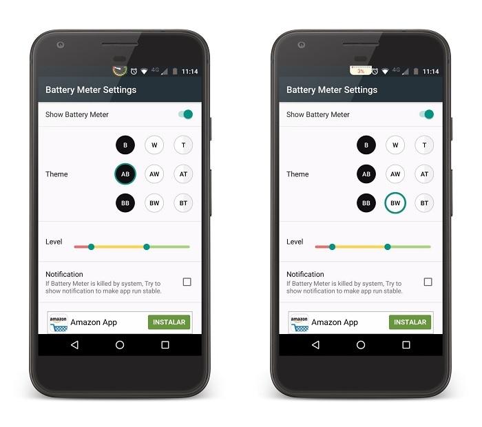 Battery Meter Overlay, una app para mostrar la batería mejor que nunca
