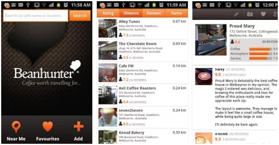 Las tres mejores apps para los amantes del café