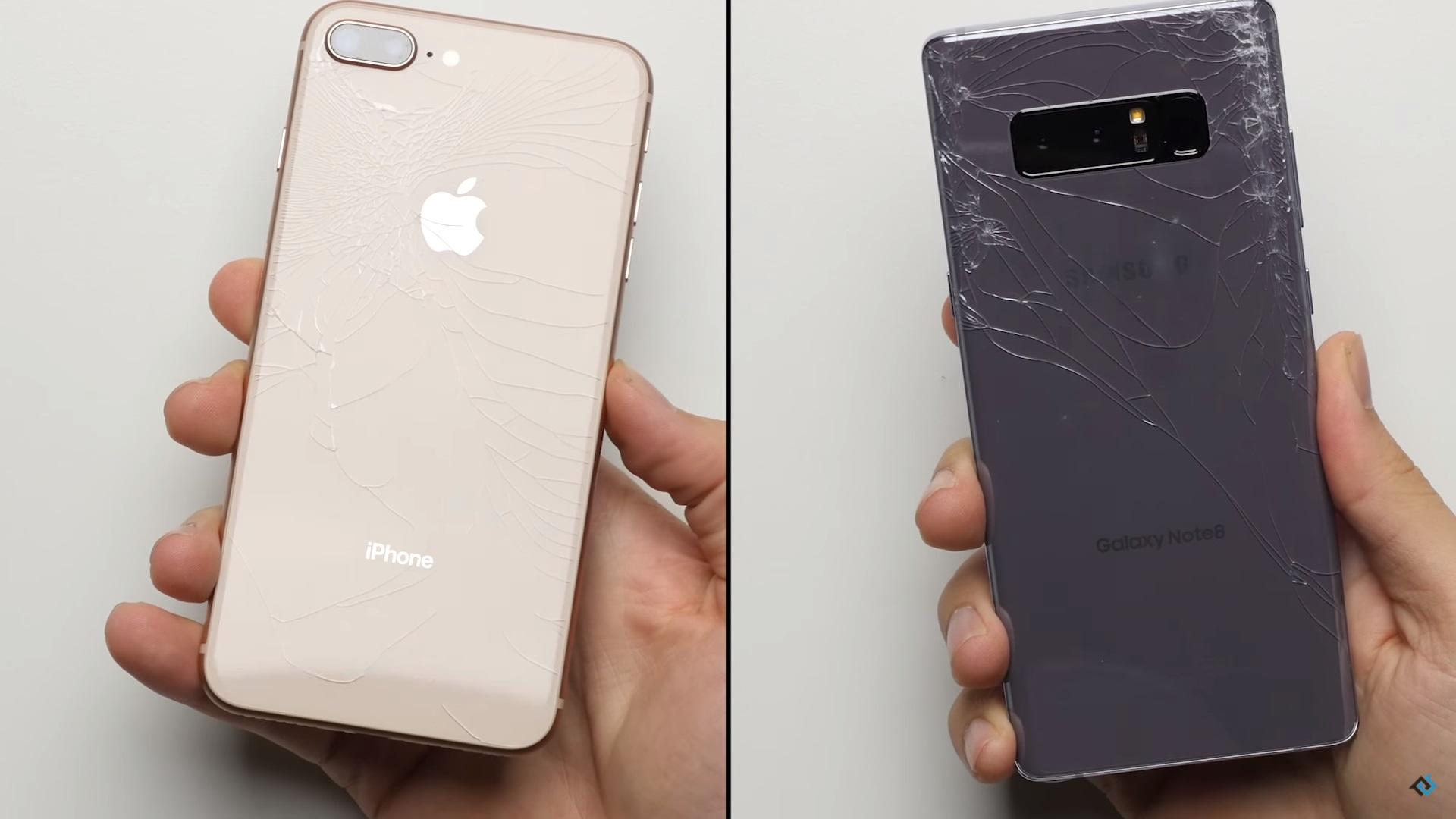 Samsung Galaxy Note8 vs. iPhone 8 Plus, ¿cuál resiste mejor a una caída?