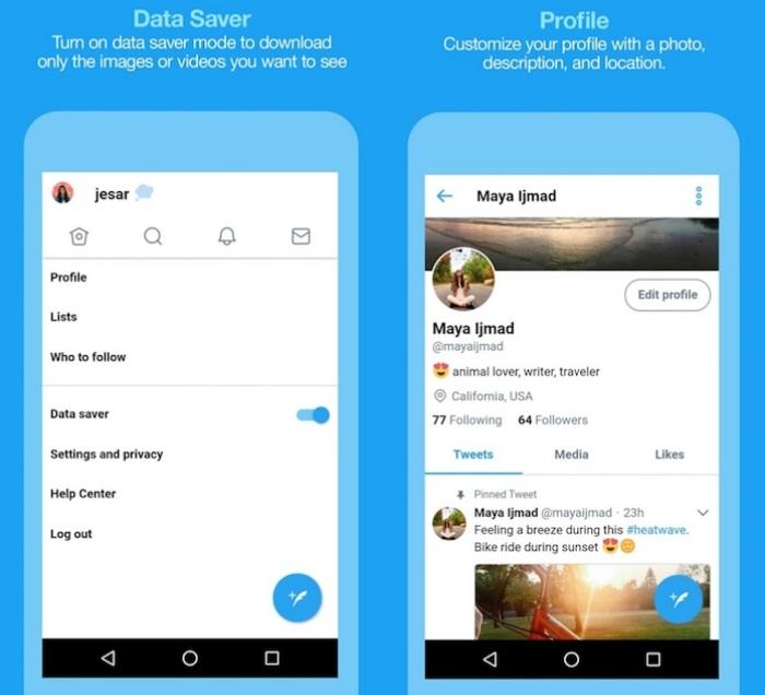 Twitter prueba una versión lite que consume menos datos