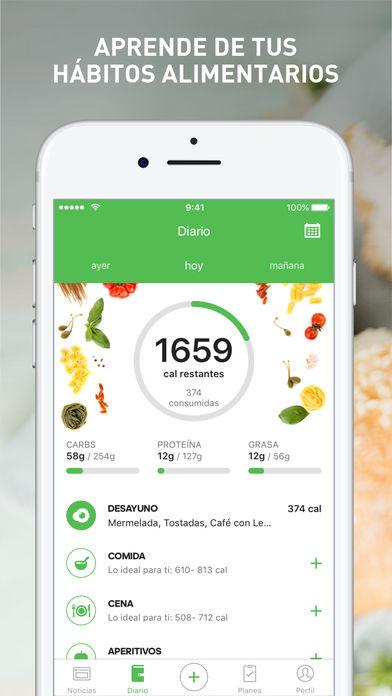 hacer un seguimiento de la aplicación de dietas