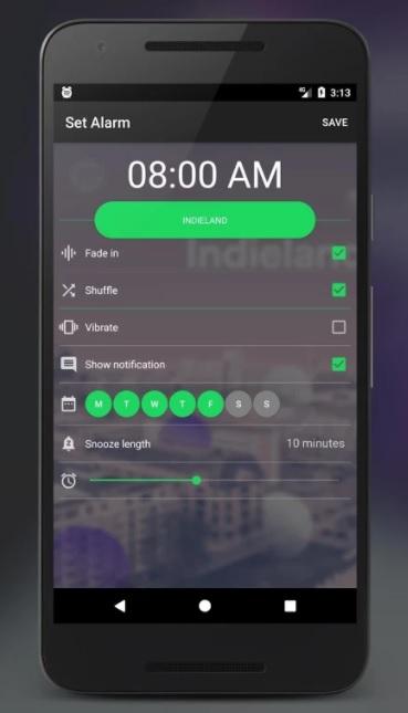 Spotify como despertador