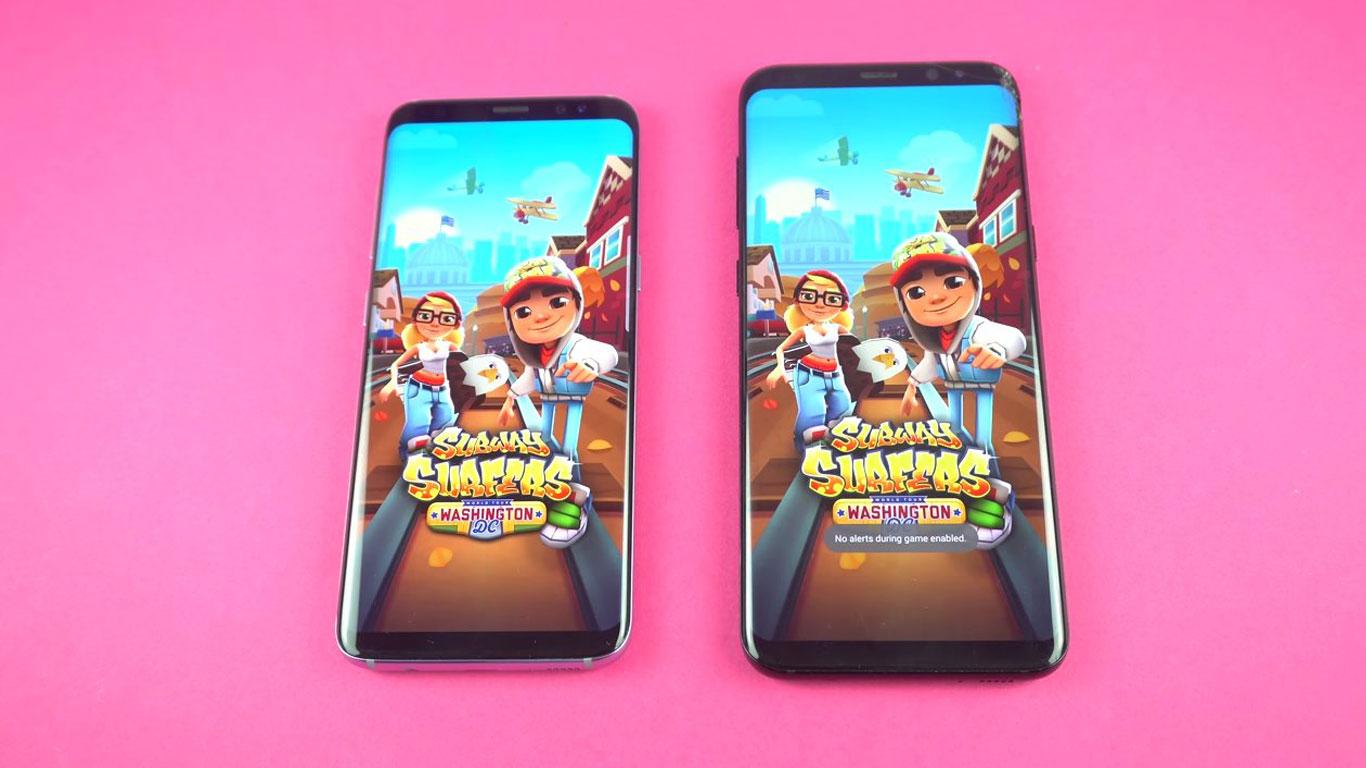 Comparativa Galaxy S8 con Android oreo