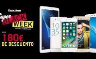 ¡Súper Black Week del 16 al 22 con hasta 180€ de descuento en smartphones y tablets al hacerte tu seguro o contrato Smarthouse!