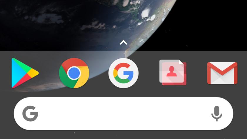 Barra de búsqueda en Dock en Nova Launcher 5.5