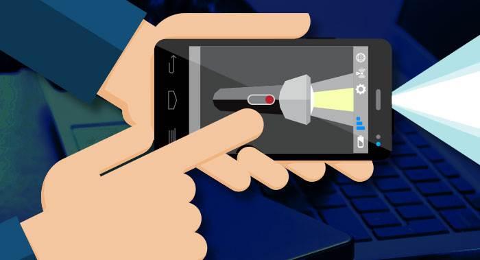 linterna smartphone