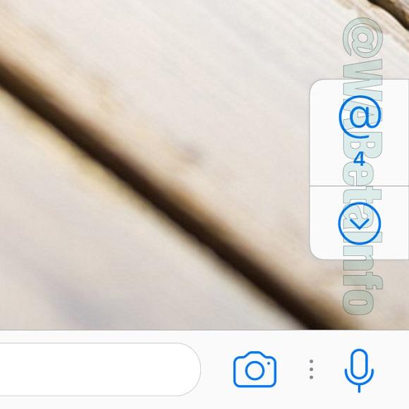 Menciones en grupos de WhatsApp