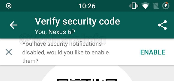 Notificaciones de seguridad WhatsApp