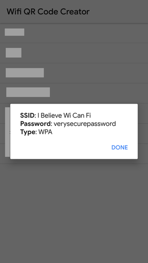 WiFi código QR