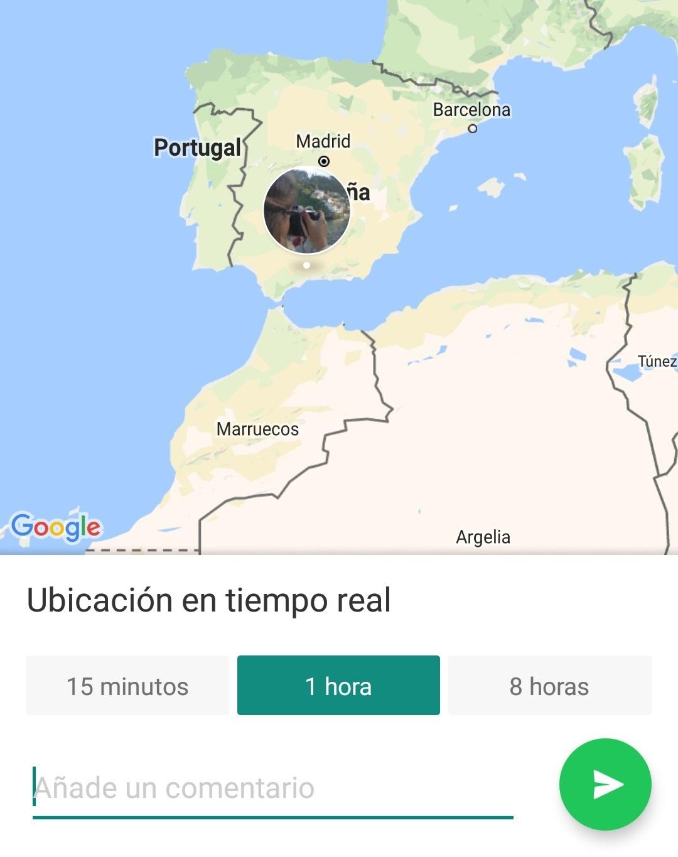 Ubicacion en tiempo real