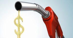 gasolina con simbolo del dólar