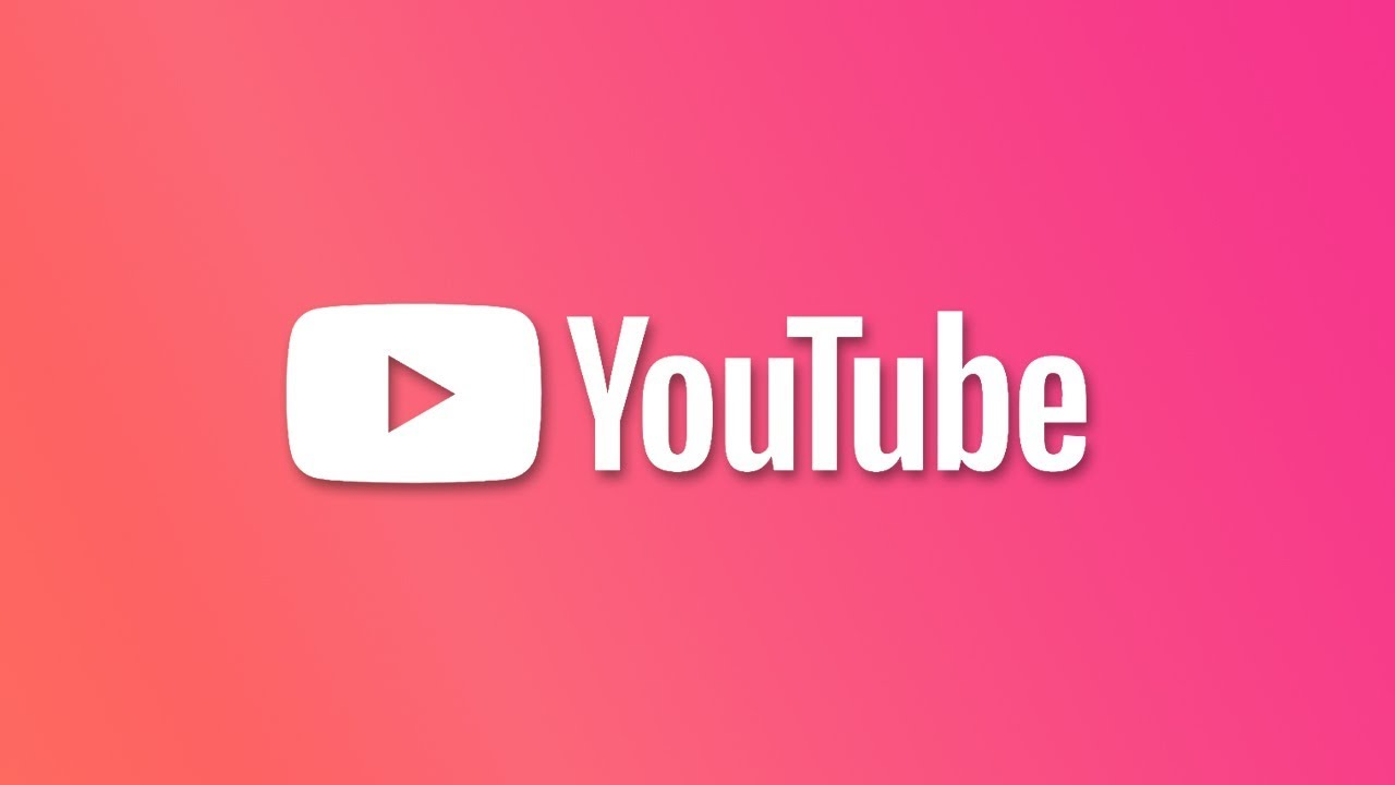 Logotipo YouTube con fondo rosa