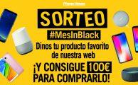¡Participa en nuestro sorteo exprés 24h #MesInBlack y gana un cheque regalo de 100€ para gastar en nuestra web!