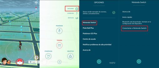 tranferencia switch pokemon GO