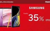 Hasta 35% en tu nuevo móvil Samsung solo el 28 y 29 de diciembre en Phone House