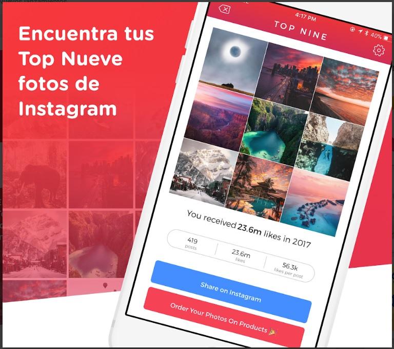 Top Nine Instagram