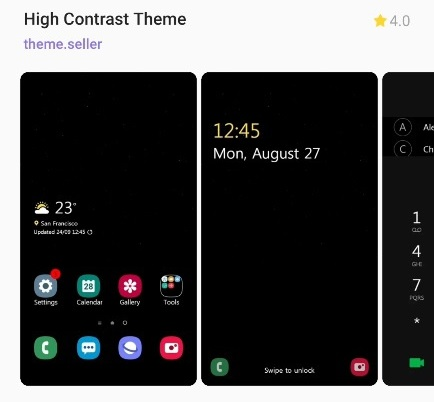 High Contrast Theme