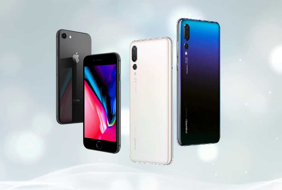 Iphone 8 Vs Huawei P20 Pro