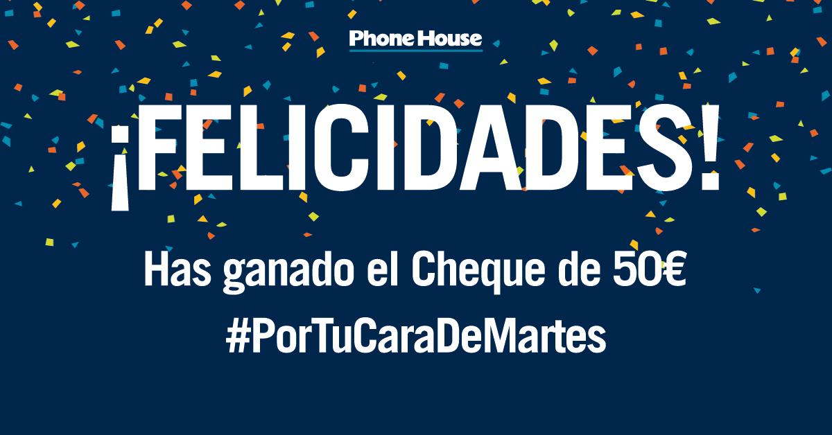 Ganador Sorteo Cheque #PorTuCaraDeMartes
