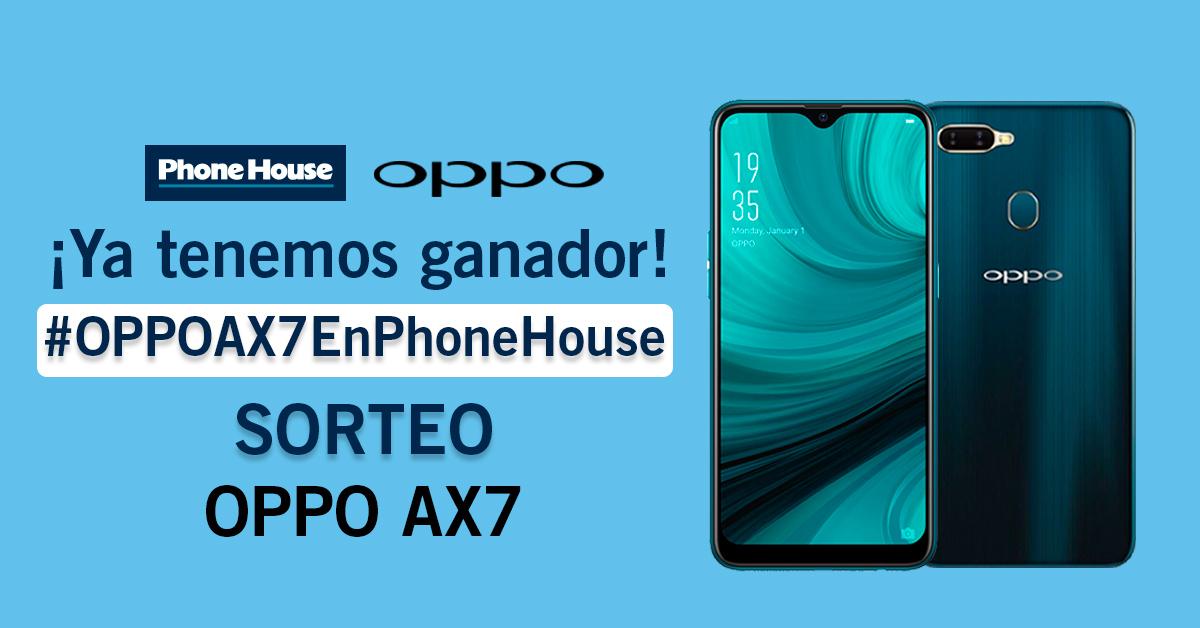 Ganador Oppo AX7 sorteo de Phone House