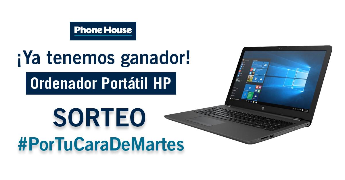 Ya tenemos ganador del sorteo de Phone House del portátil HP