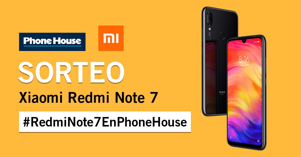 Sorteo Xiaomi Redmi Note 7 en Phone House