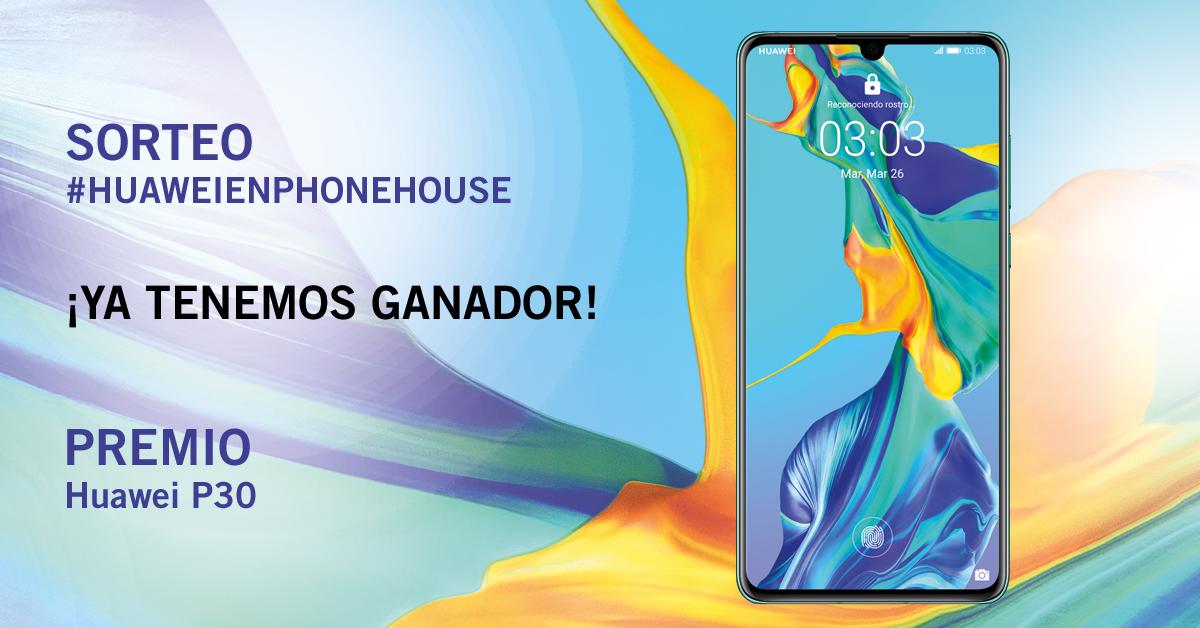 Ganador Huawei P30 en Phone House