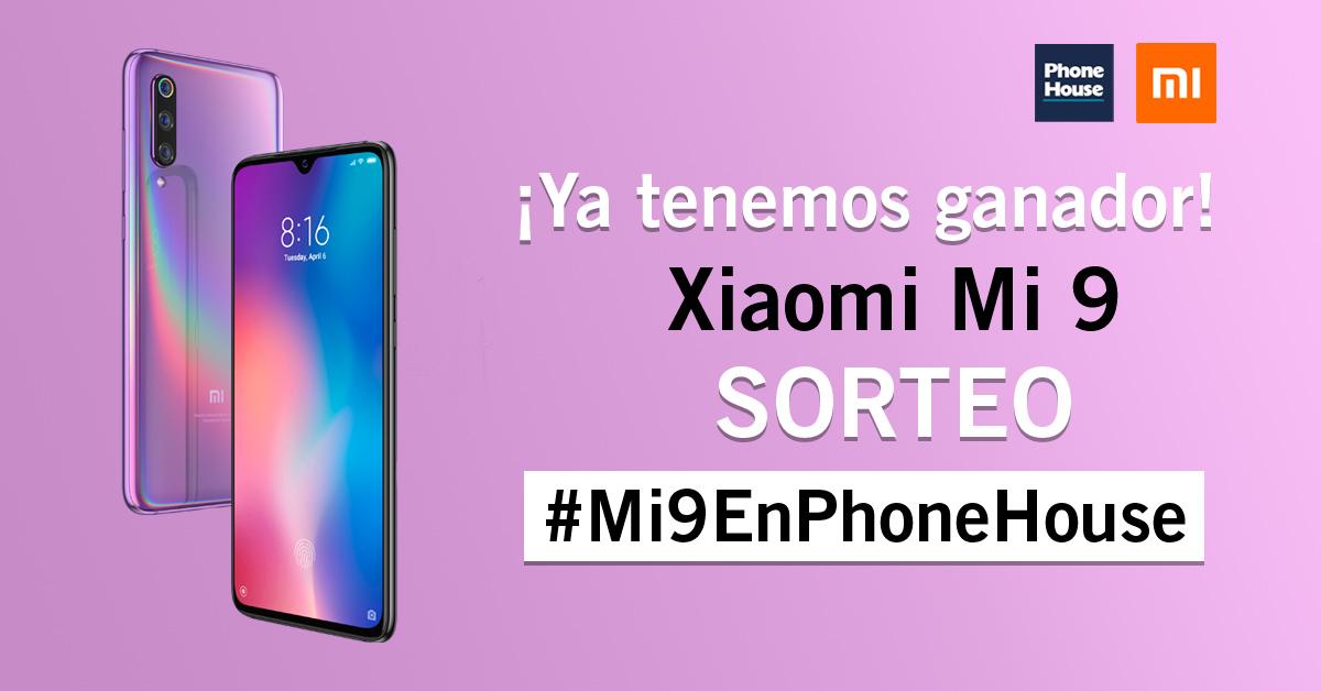 Ganador Sorteo Xiaomi Mi 9 en Phone House