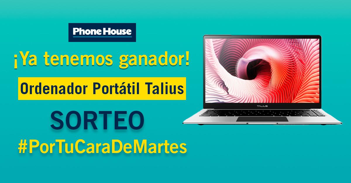 Phone House ganador sorteo Ordenador Portátil Talius