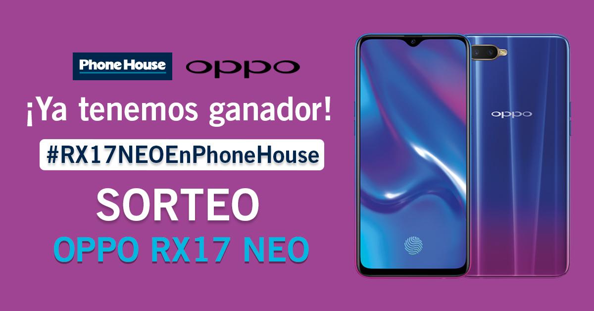 Ganador sorteo Phone House, smartphone OPPO RX17 Neo