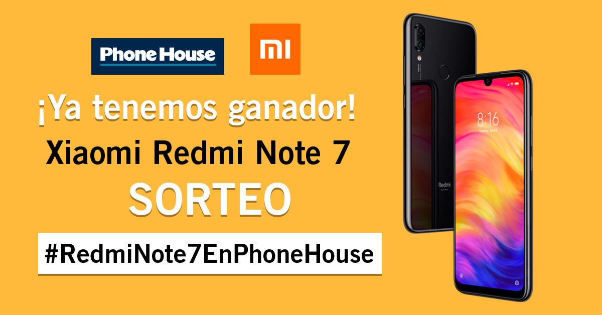Sorteo Redmi Note 7 Ganador