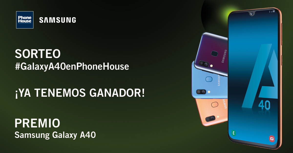 Ganador sorteo Phone House Galaxy A40
