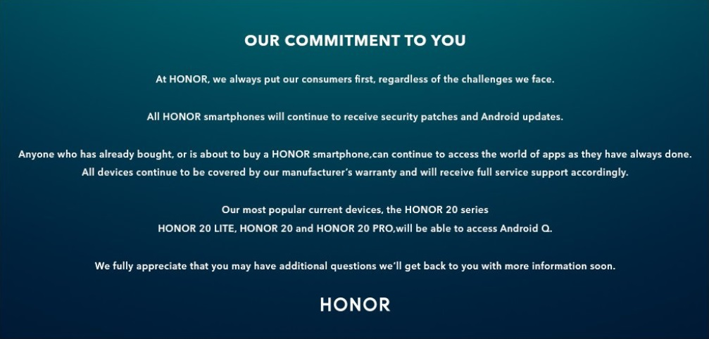 Honor Android Q